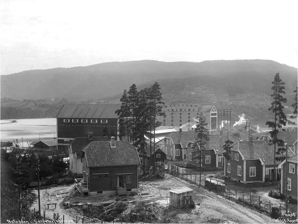 Notodden i begynnelsen av 1900-tallet Foto: Notodden Historielag