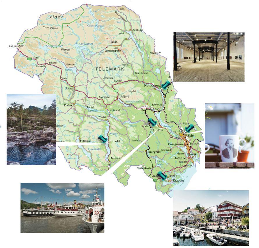 Her er noen av stedene Stine kommer til å besøke