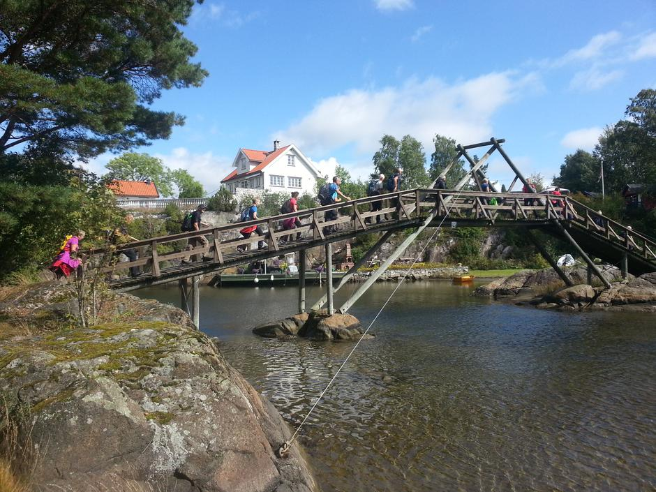 Bru Sandøya- Løvøya, foto: DNT