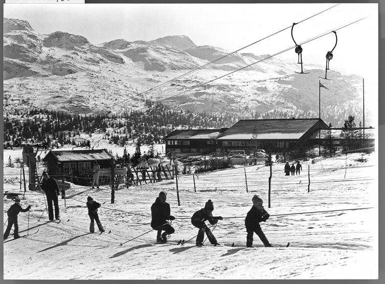 Det første skitrekket på Gaustablikk