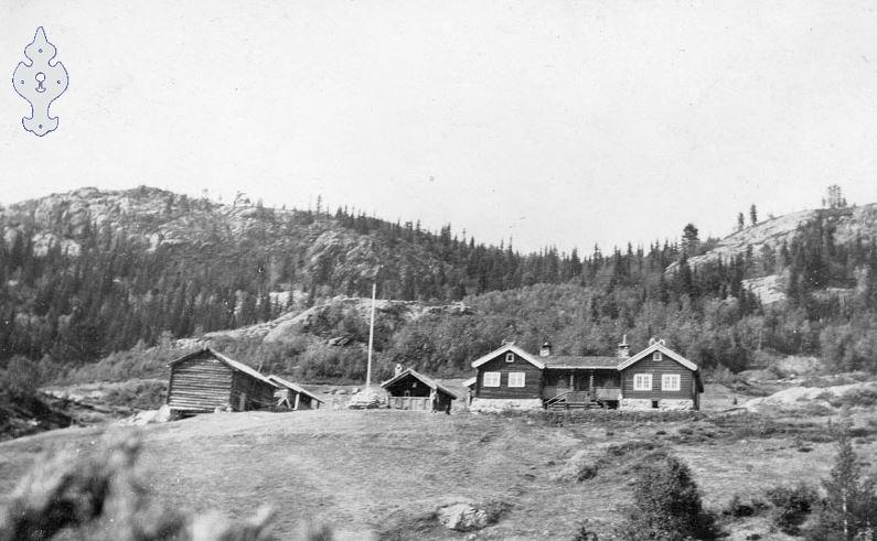 Fjellgården slik den så ut da Nils Schiøtt i sin tid bodde der