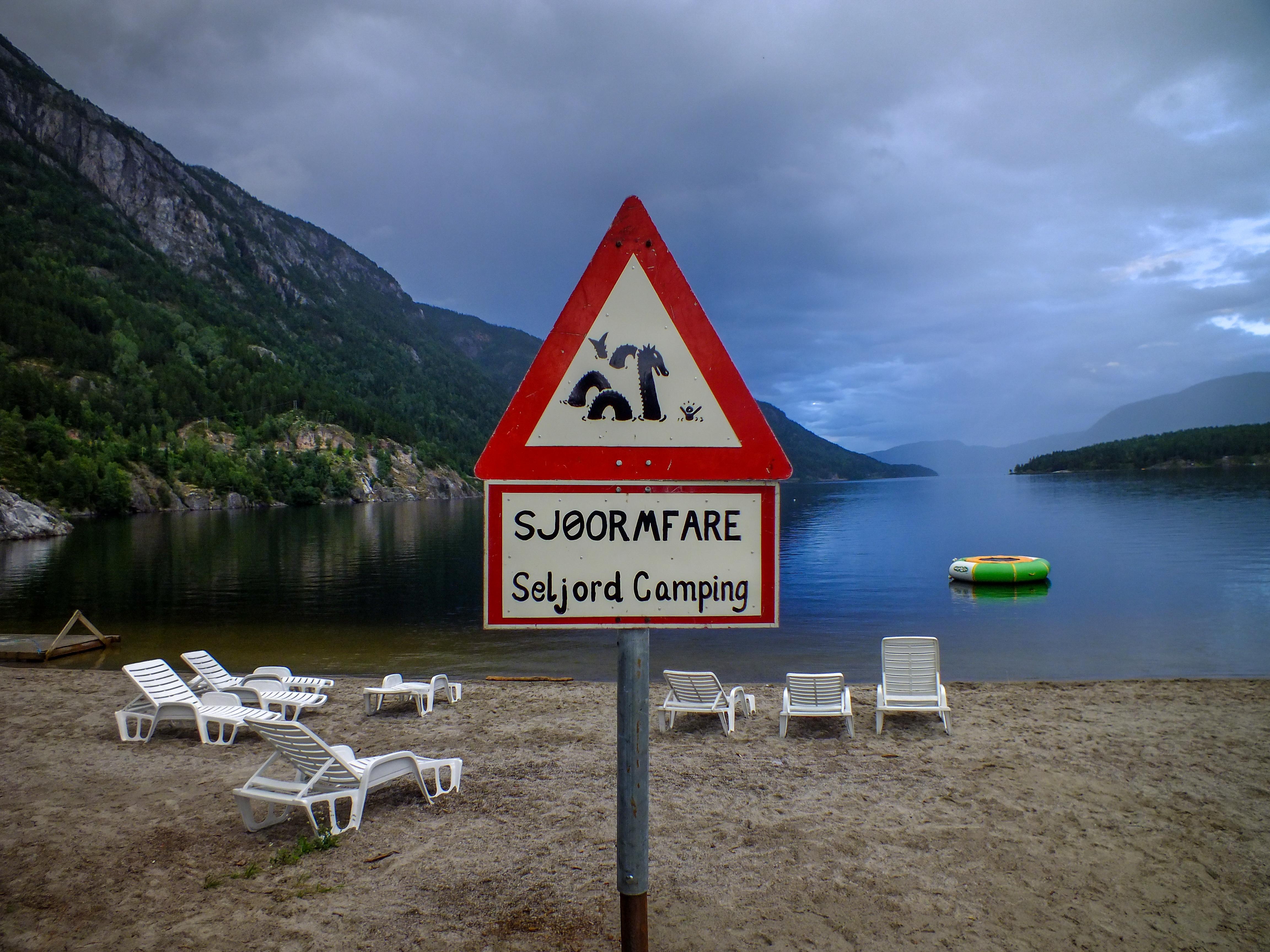 Sjøormfare ved Seljord Camping