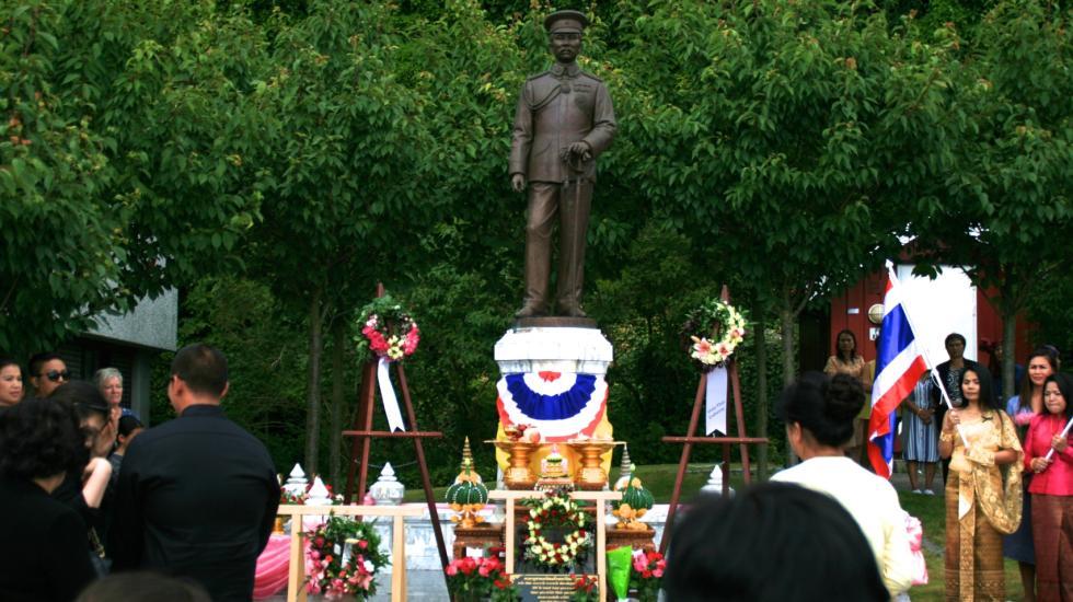 Statuen av Kong Chulalonkorn i Brevik Foto: Varden