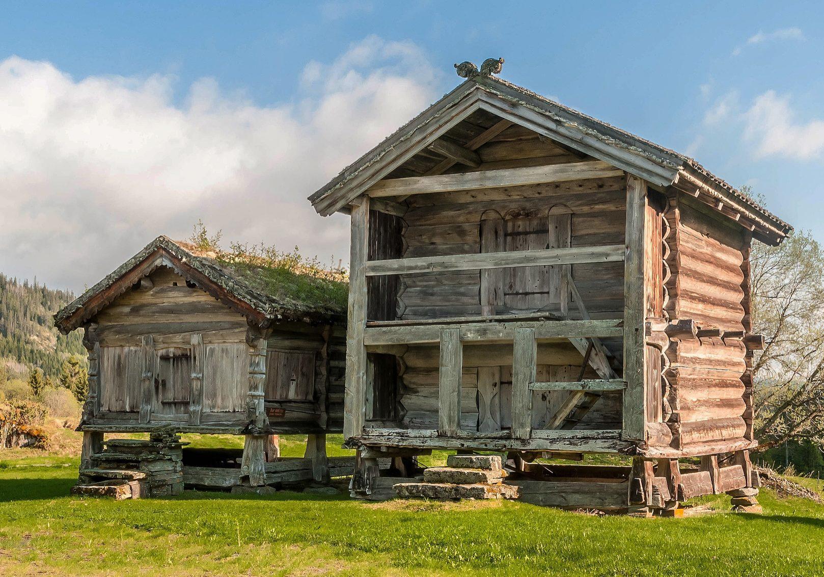Stålekleivloftet er Noregs eldste bygg og du kan finne det på Vest-Telemark Museum Eidsborg  Foto: Harald Naper