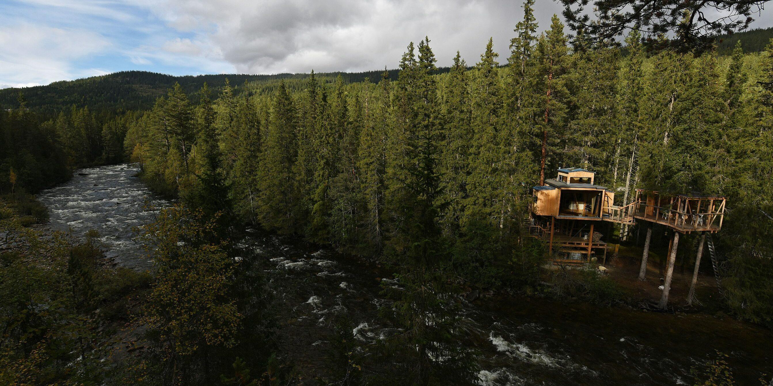 IDYLL: Tretopphytta Å Auge ligger idyllisk til langs Tessungåi. Foto: Bjørn Harry Schønhaug