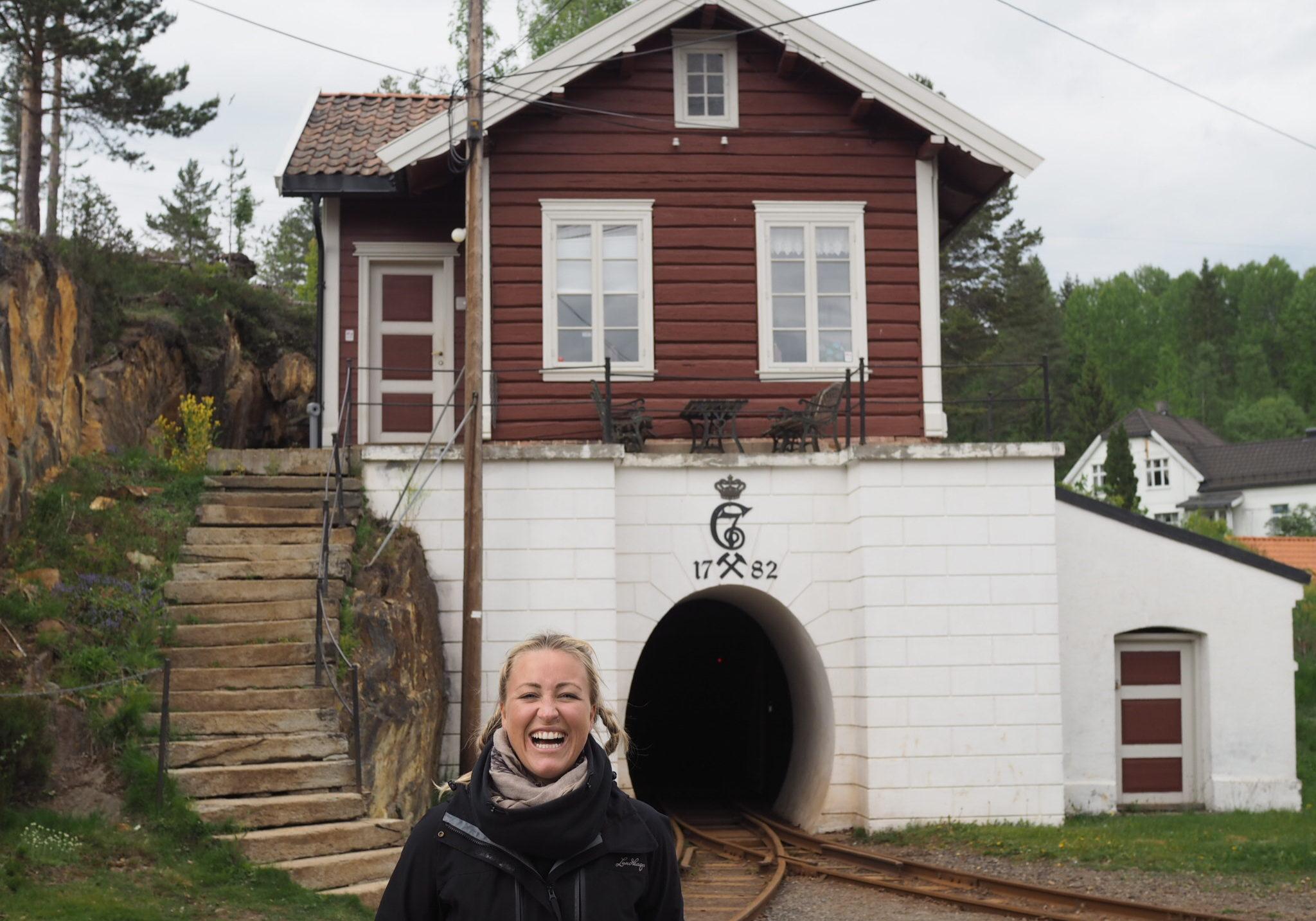 Stine Hartmann på Sølvgruvene i Kongsberg