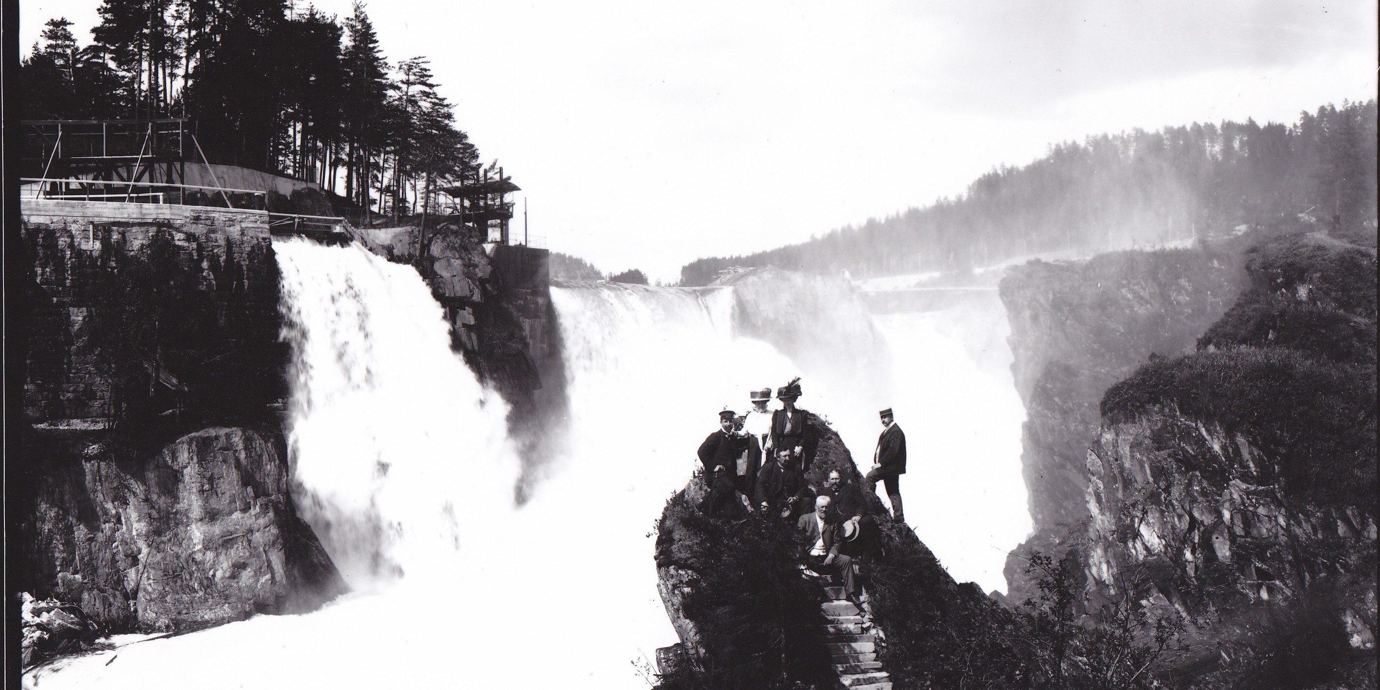 Verdens vannkraft industri begynte på Aust Telemark Foto: Norsk Industriarbeidermuseum