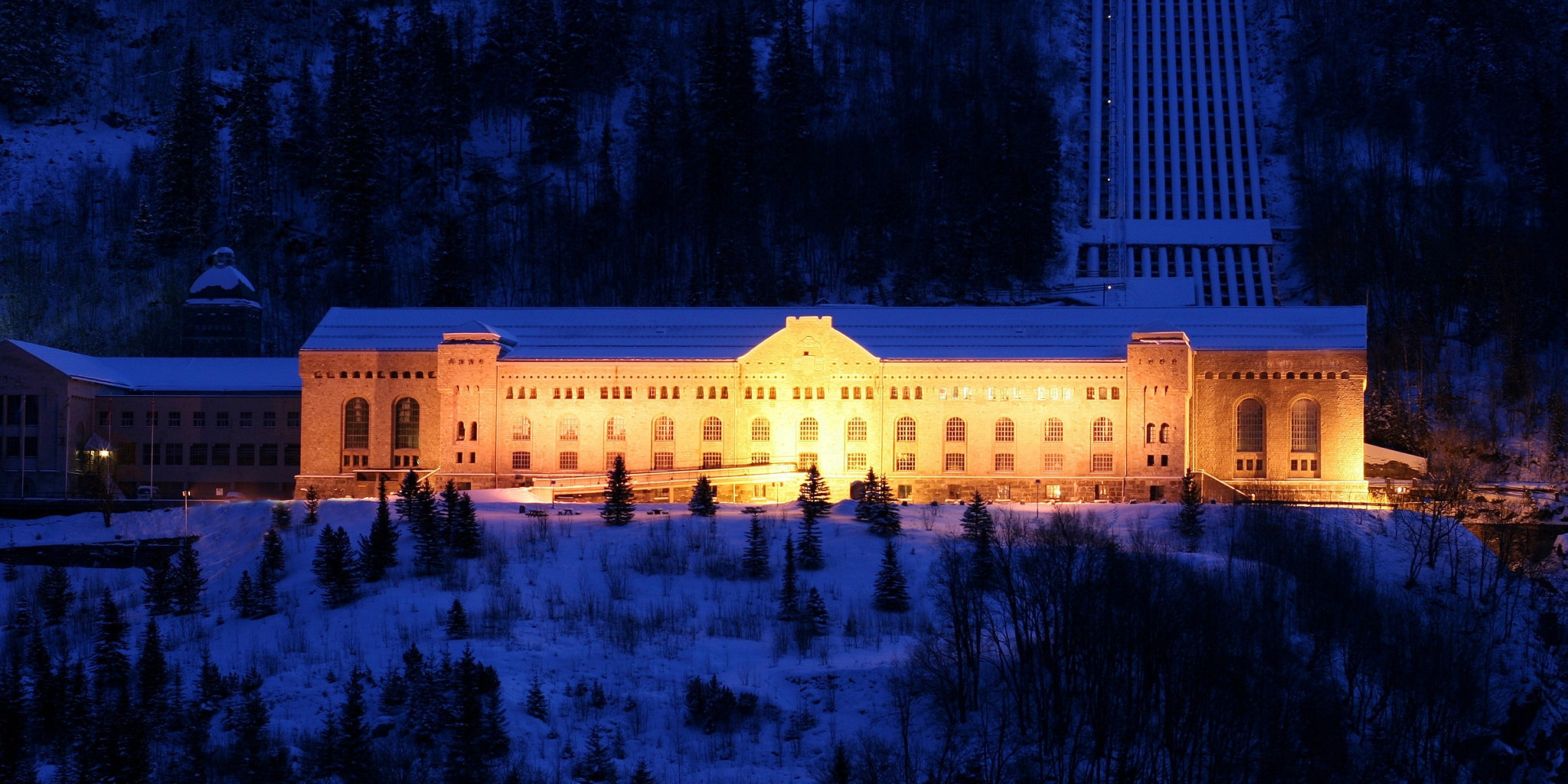 Vemork ble ferdig i 1911 og var et av verdens største kraftstasjon i sin tid  Foto: Norsk Industriarbeidermuseum