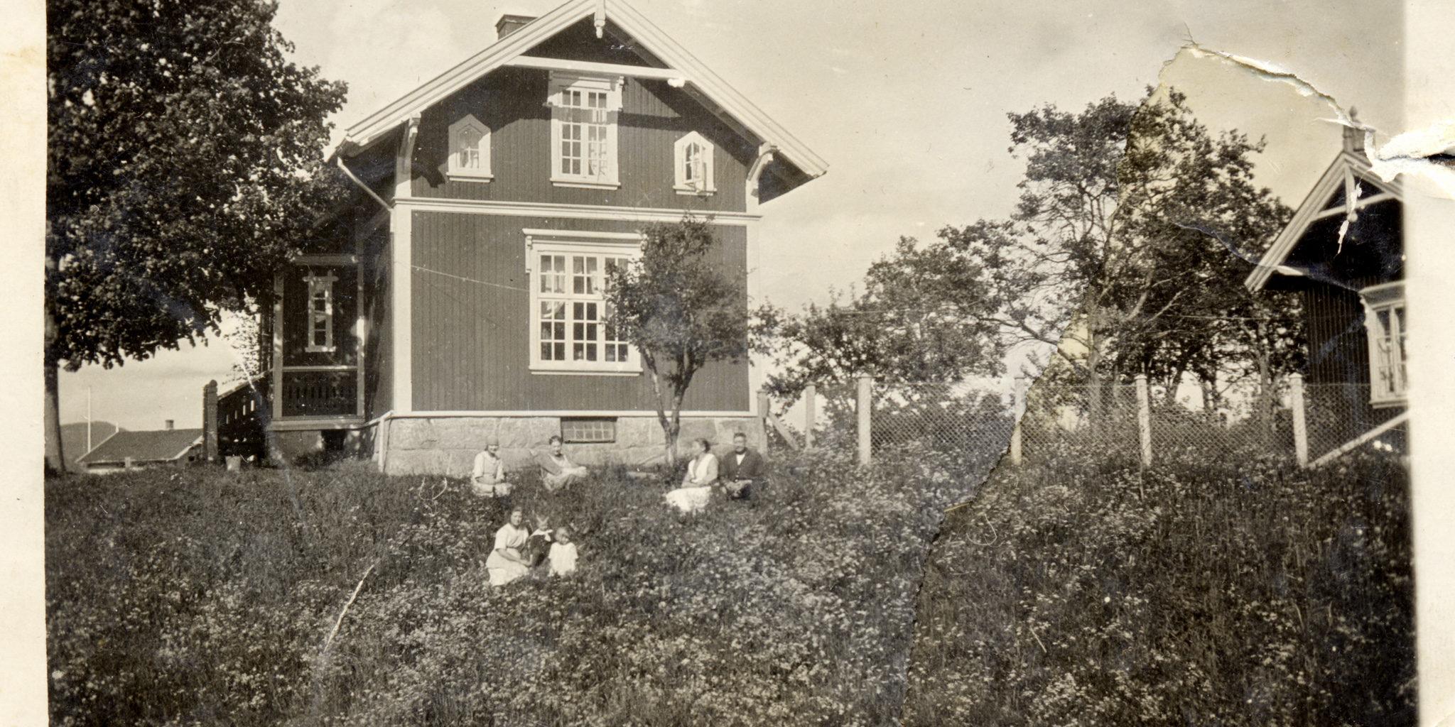 Slusevokterboligen i Lunde hadde fjøs og kjøkkenhage for dyrking av grønnsaker