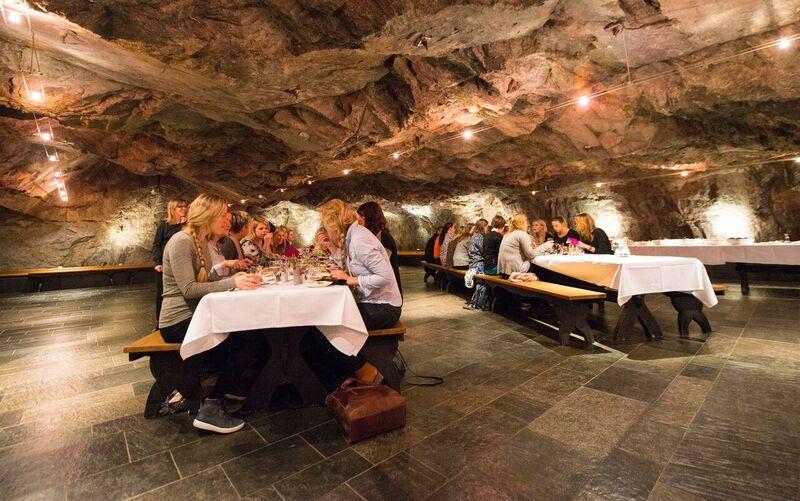 Festsalen i Kongens gruve, Sølvgruvene på Kongsberg. Foto: Bjørn Isaksen