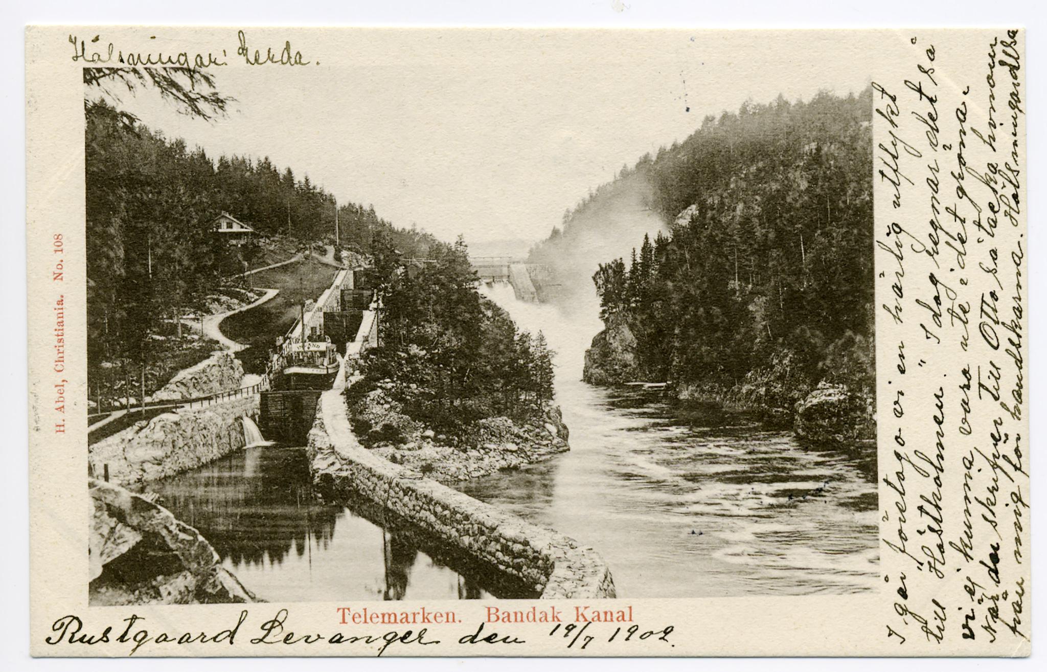 Vrangfoss sluser er nok Telemarks mest brukte postkortmotiv gjennom tidene