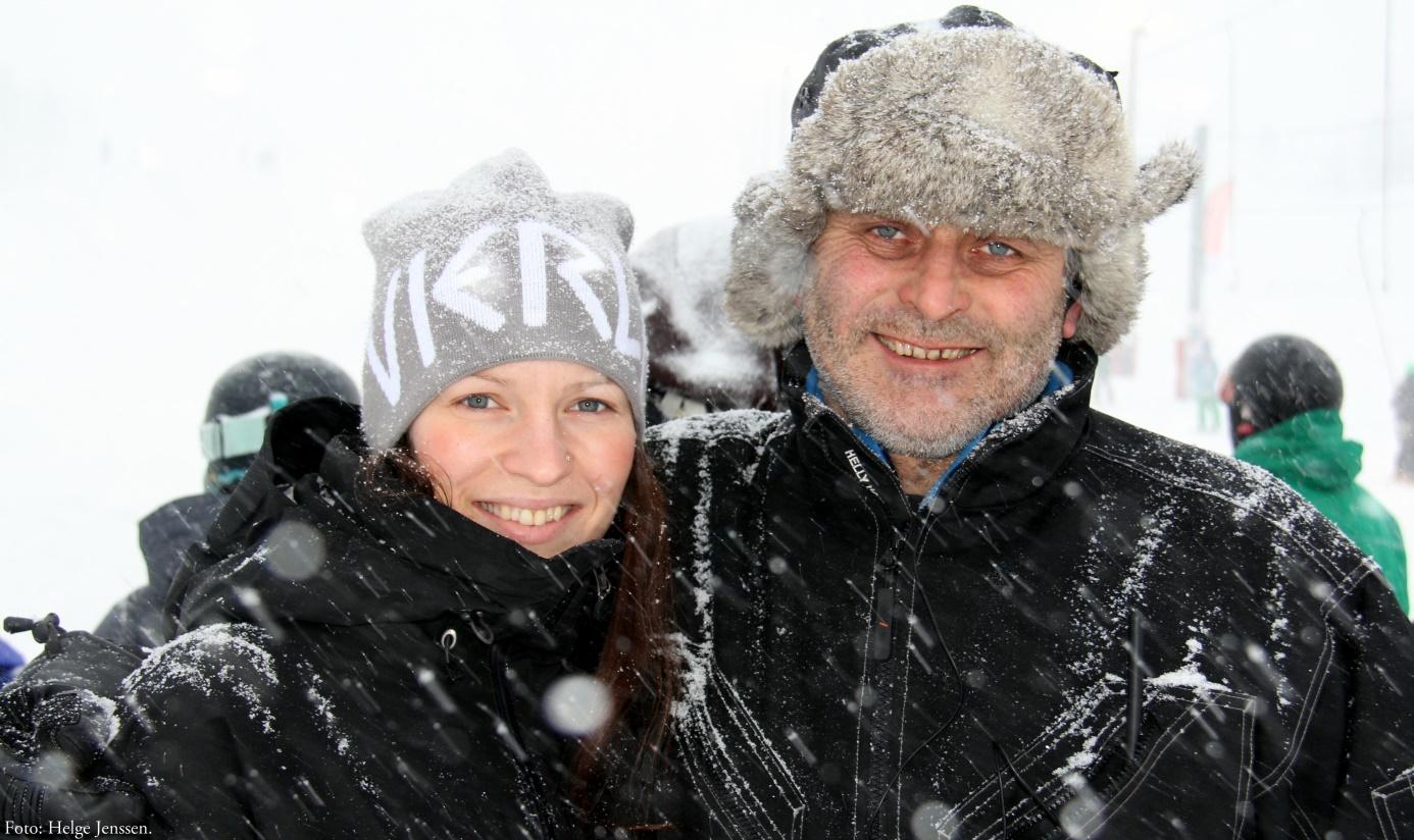 Kristin og pappa Erland, to sjeler som brenner for reiselivet og fjellheimen