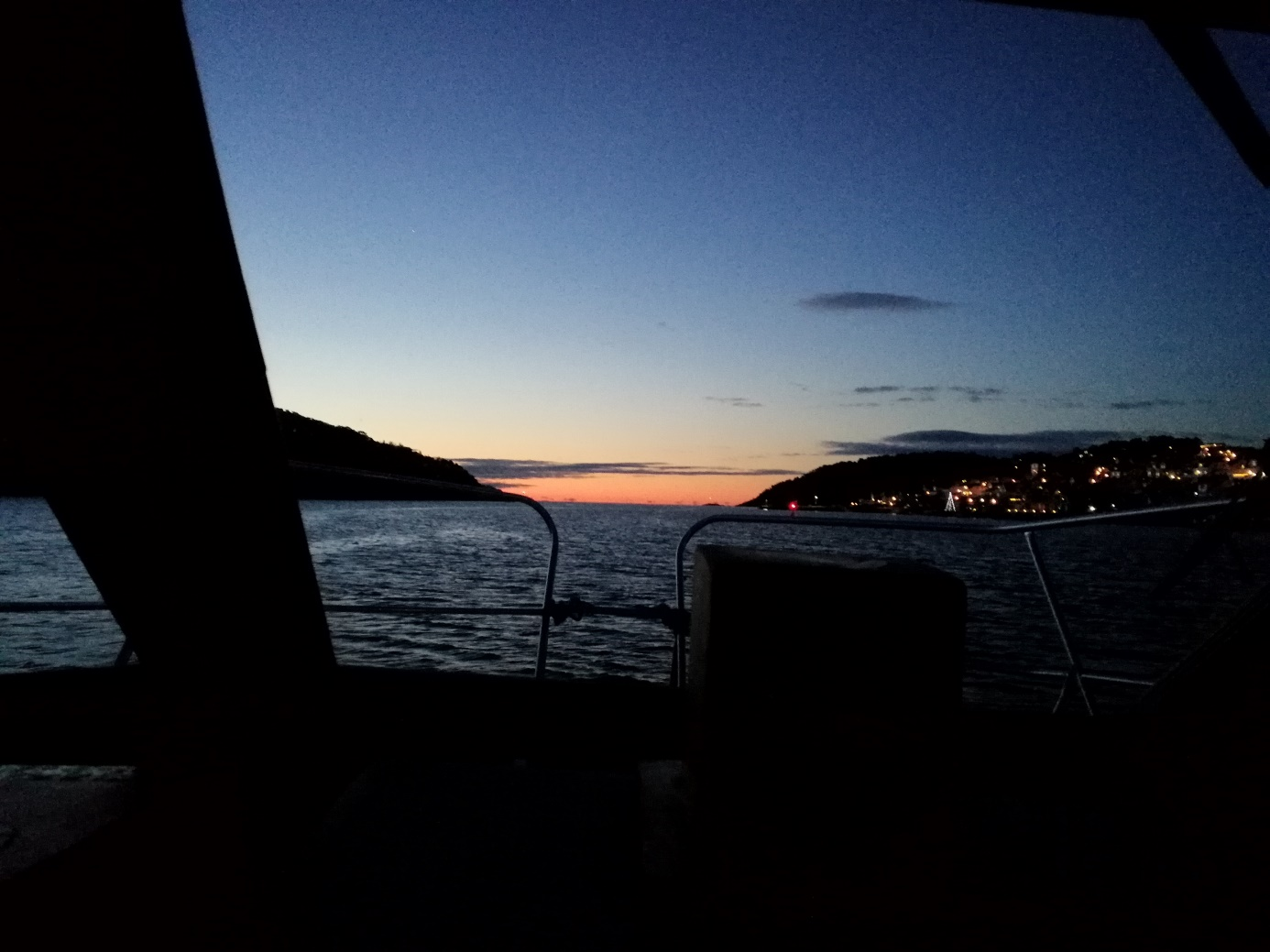 Jera ll på vei ut Langesundsfjorden