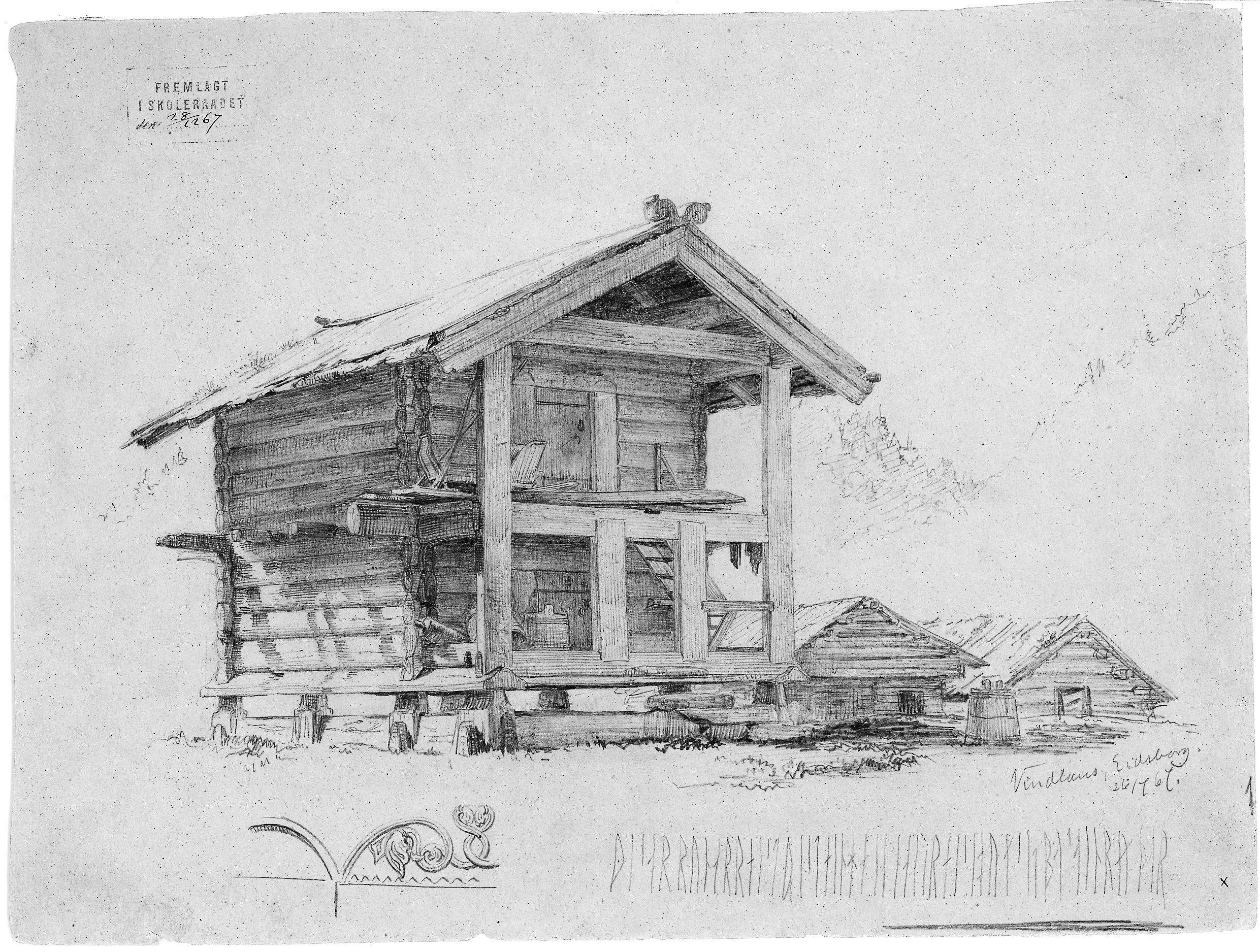 Lofte til Åse Stolekleiv slik det var på 1800-tallet