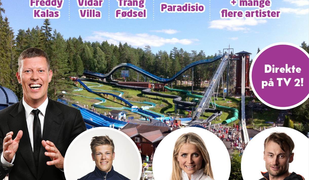 Bli med på TV 2's Sommershow i Bø Sommarland 29.juni