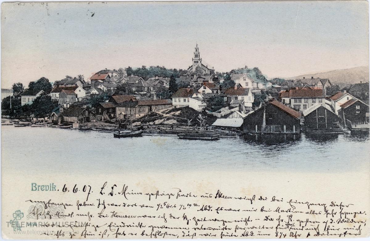 Postkort fra 1907 Foto: Telemark Museum