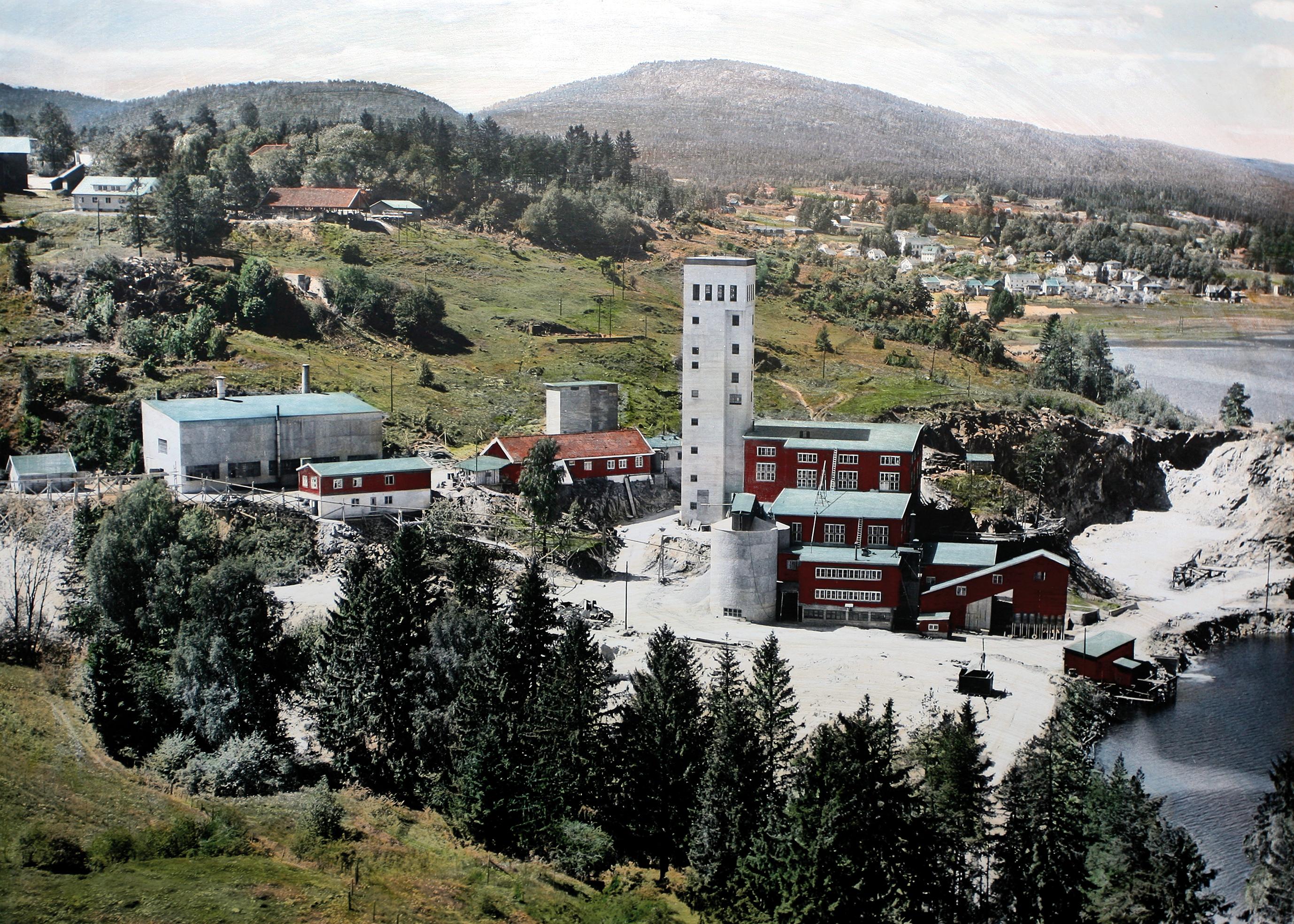 Den gamle fabrikken Ulefoss Jærnverk. Det er Norges eldtste industribedrift som er i drift den dag i dag.
