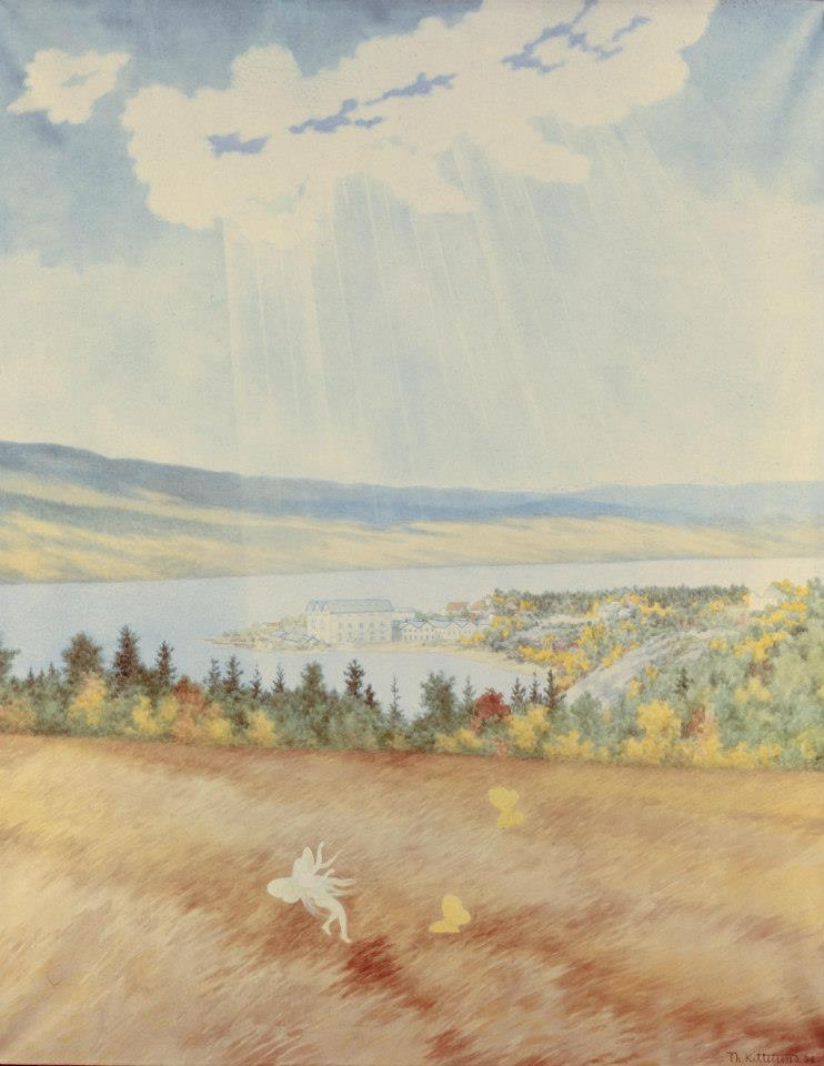 """Th. Kittelsen Svelgfoss-serie -""""Frugtbarheden"""""""