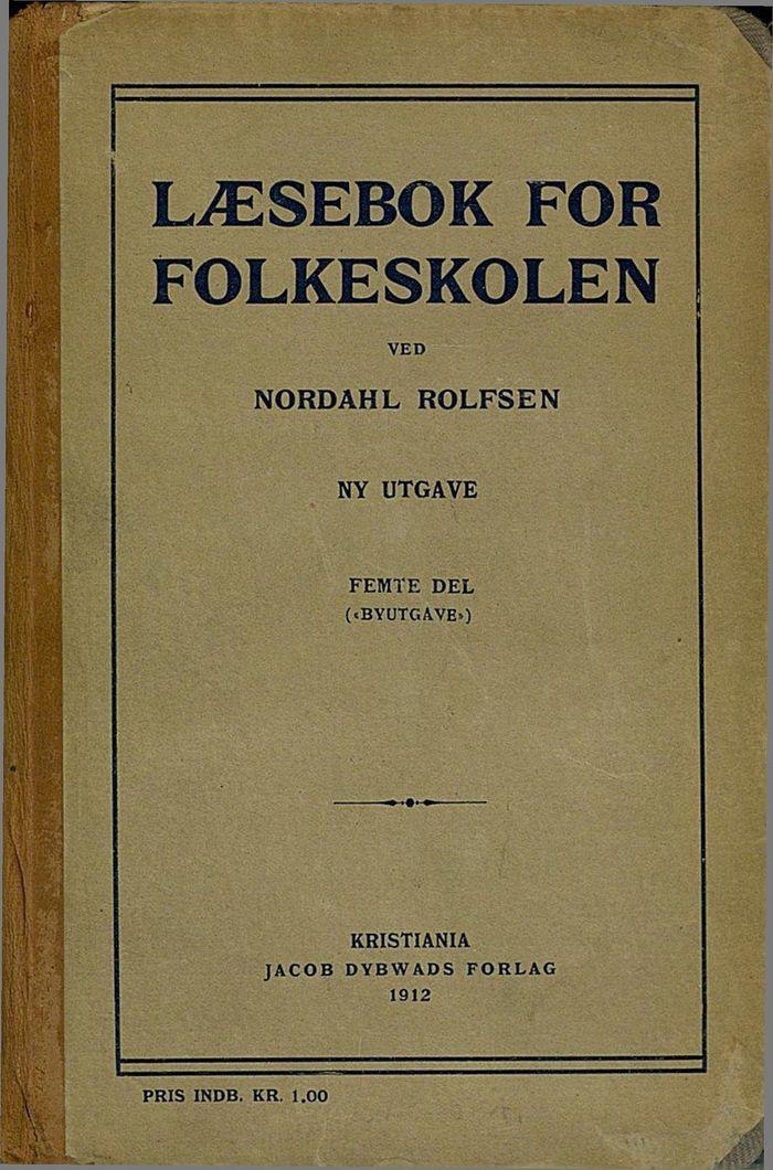 Rolfsens lesebok for folkeskolen 1912