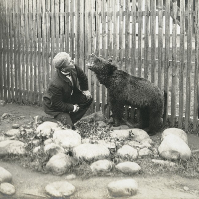 Bildet viser Lillebjørn på Notodden.Det er truleg fotografert rundt 1905, basert på Sam Eydes memoarer. Foto: Norsk Vasskraft- og Industristadmuseum