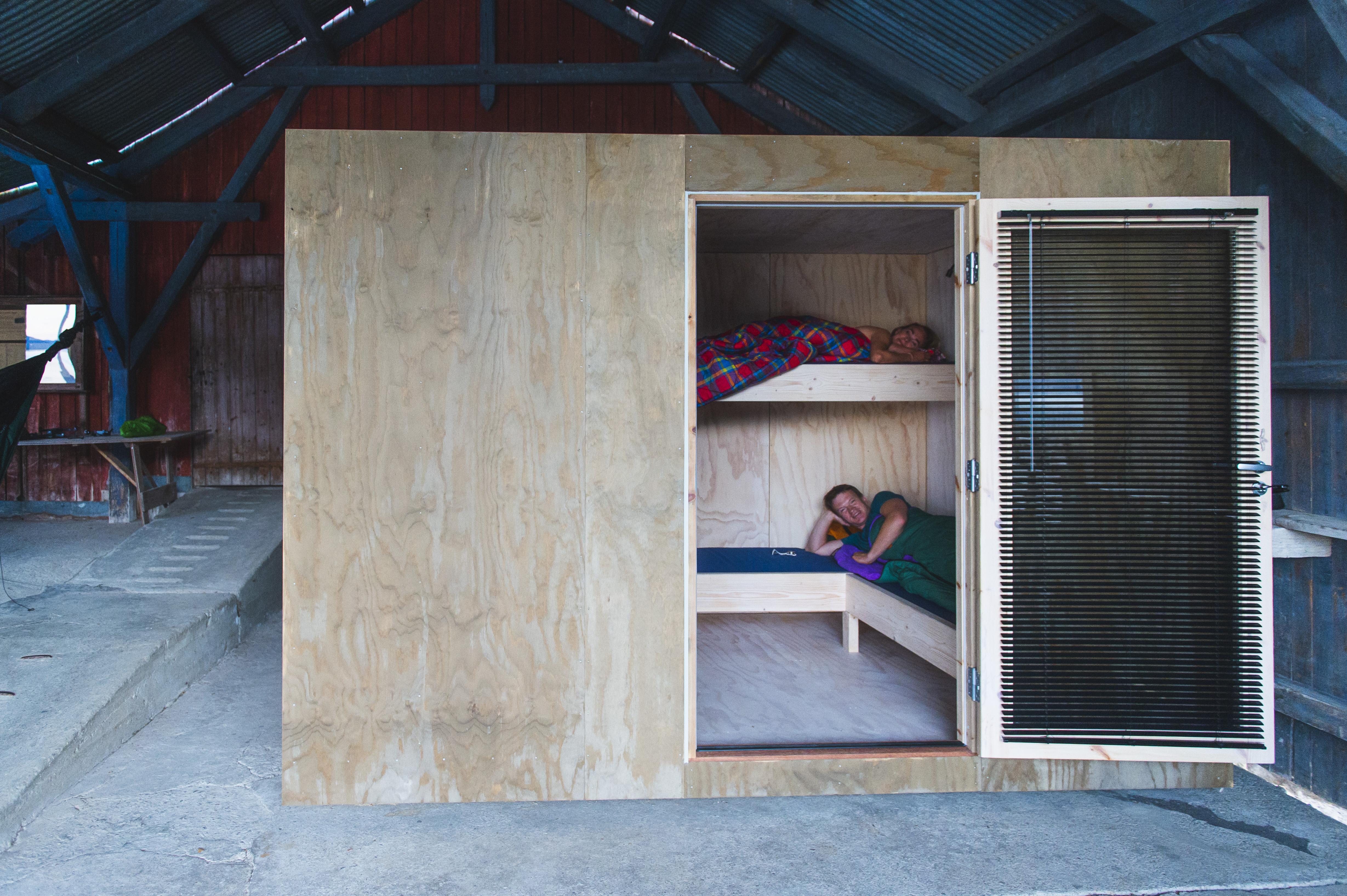 Soveboksene langs Telemarkskanalen