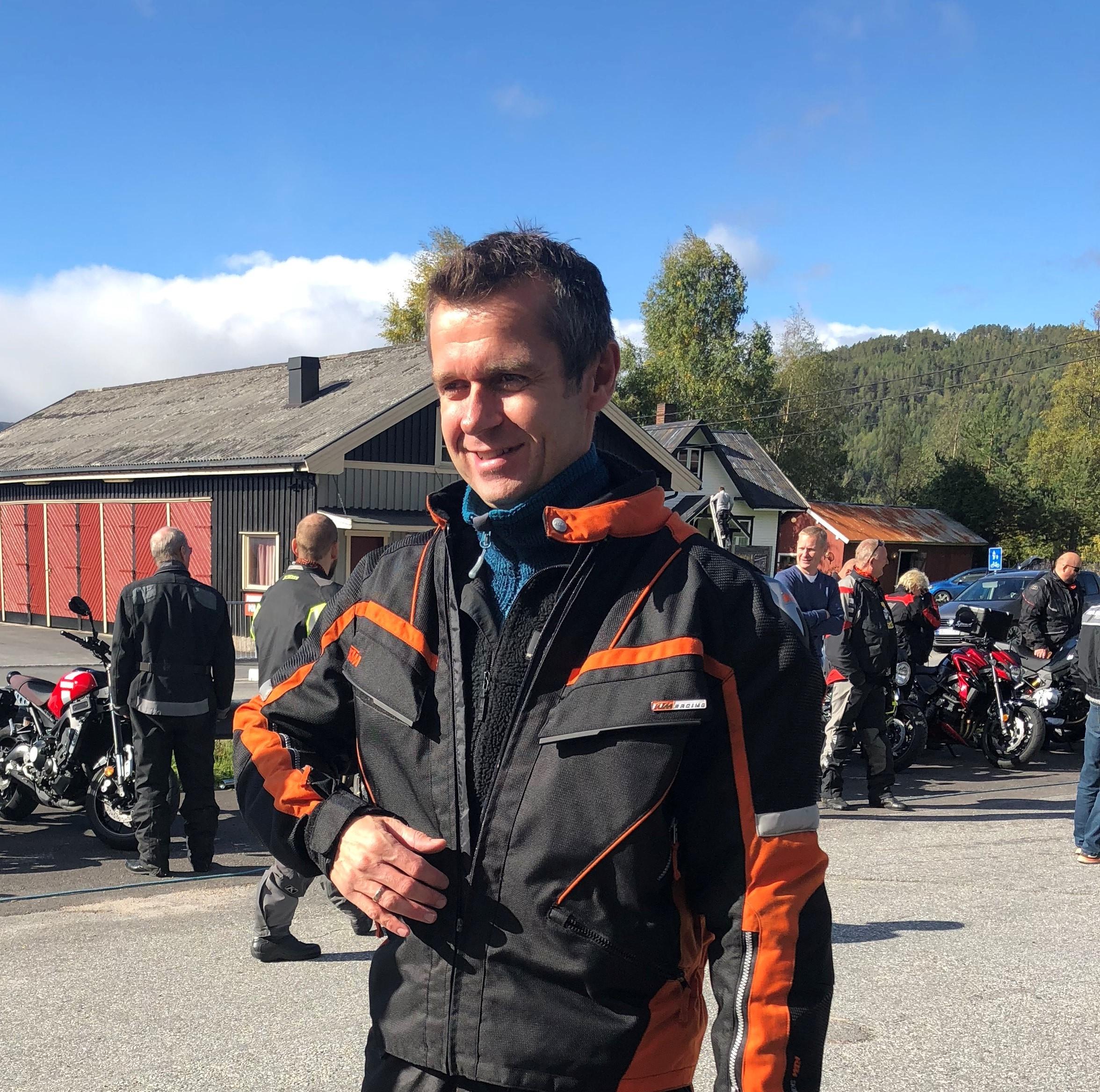 Hotelldirektøren, Lars Arne Straand er selv MC -entusiast