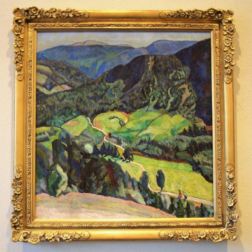 «Frå Kviteseid», måleri ca. 1910. Henrik Sørensen oppdaga Telemark mange år før han fekk ein fast tilhaldsstad i Vinje.  Foto: Privat