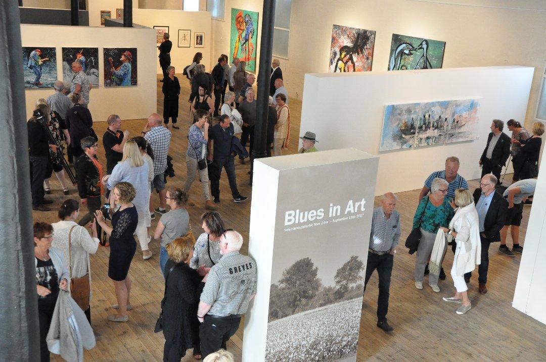 Utstillingen Blues in Art på Telemarksgalleriet