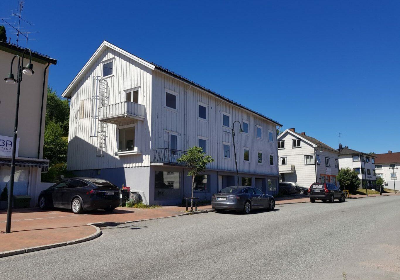 """Bygningen som før var """"Heggen pensjonat"""" finnes fortsatt på Ulefoss den dag i dag"""