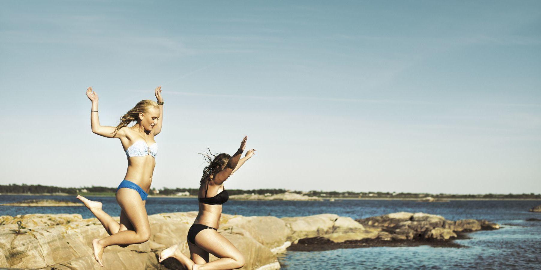 Bading utenfor Kragerø og Jomfruland