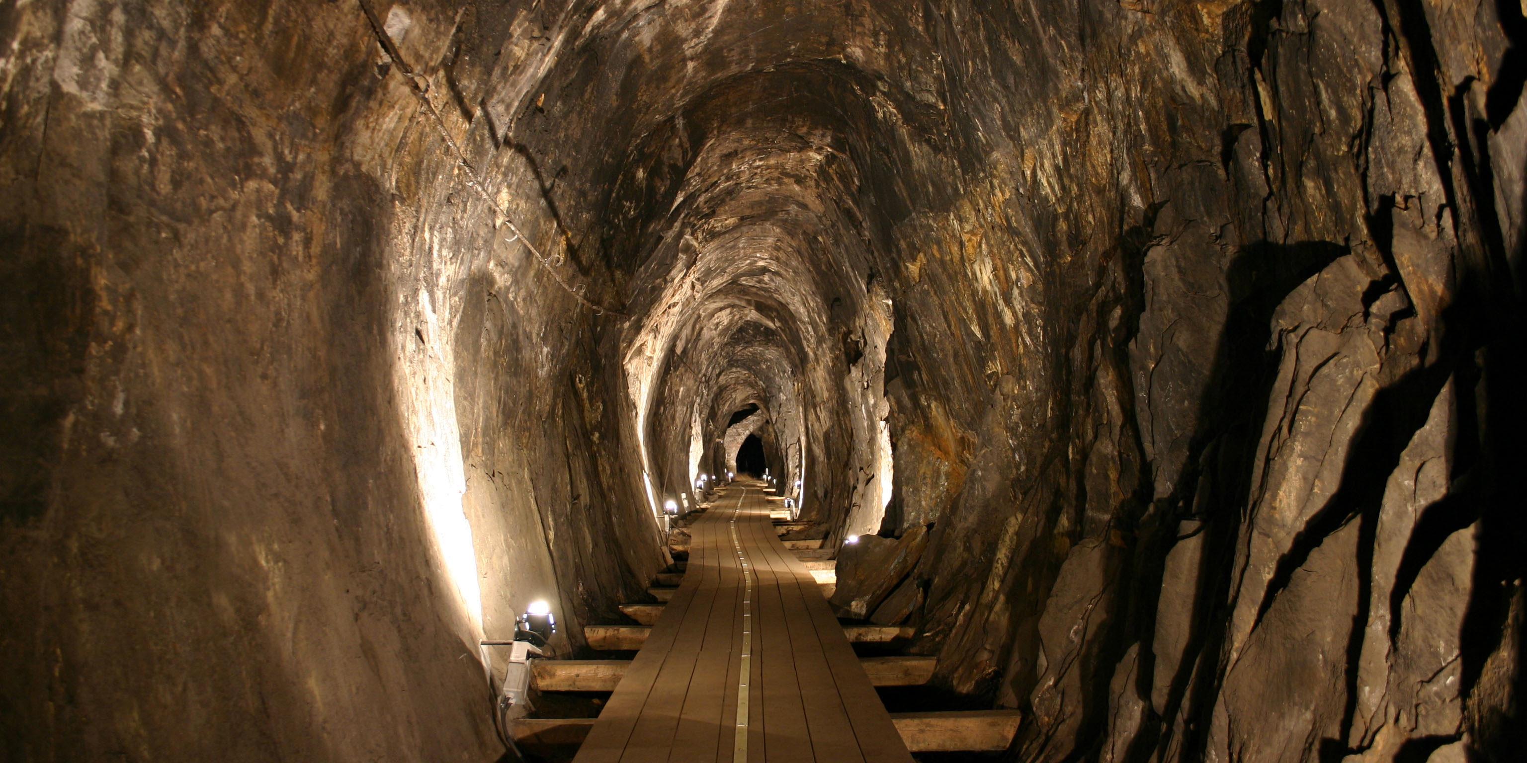 Kongens gruve, Sølvgruvene på Kongsberg. Foto: Christian Berg/Norsk Bergverksmuseum