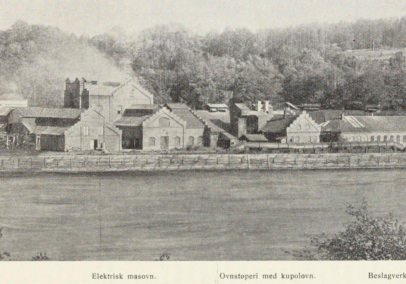 Ulefos Jernværk i 1925 Foto: lokalhistoriewiki.no