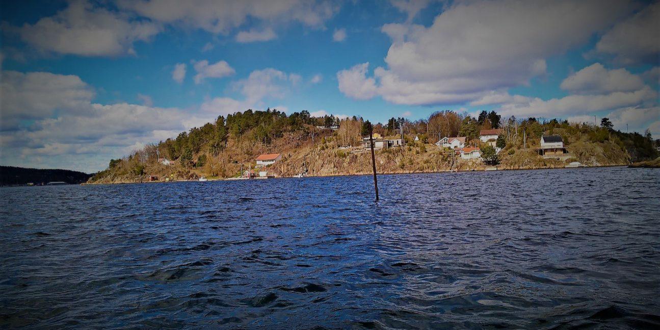 Oksøya sett fra Løvøya