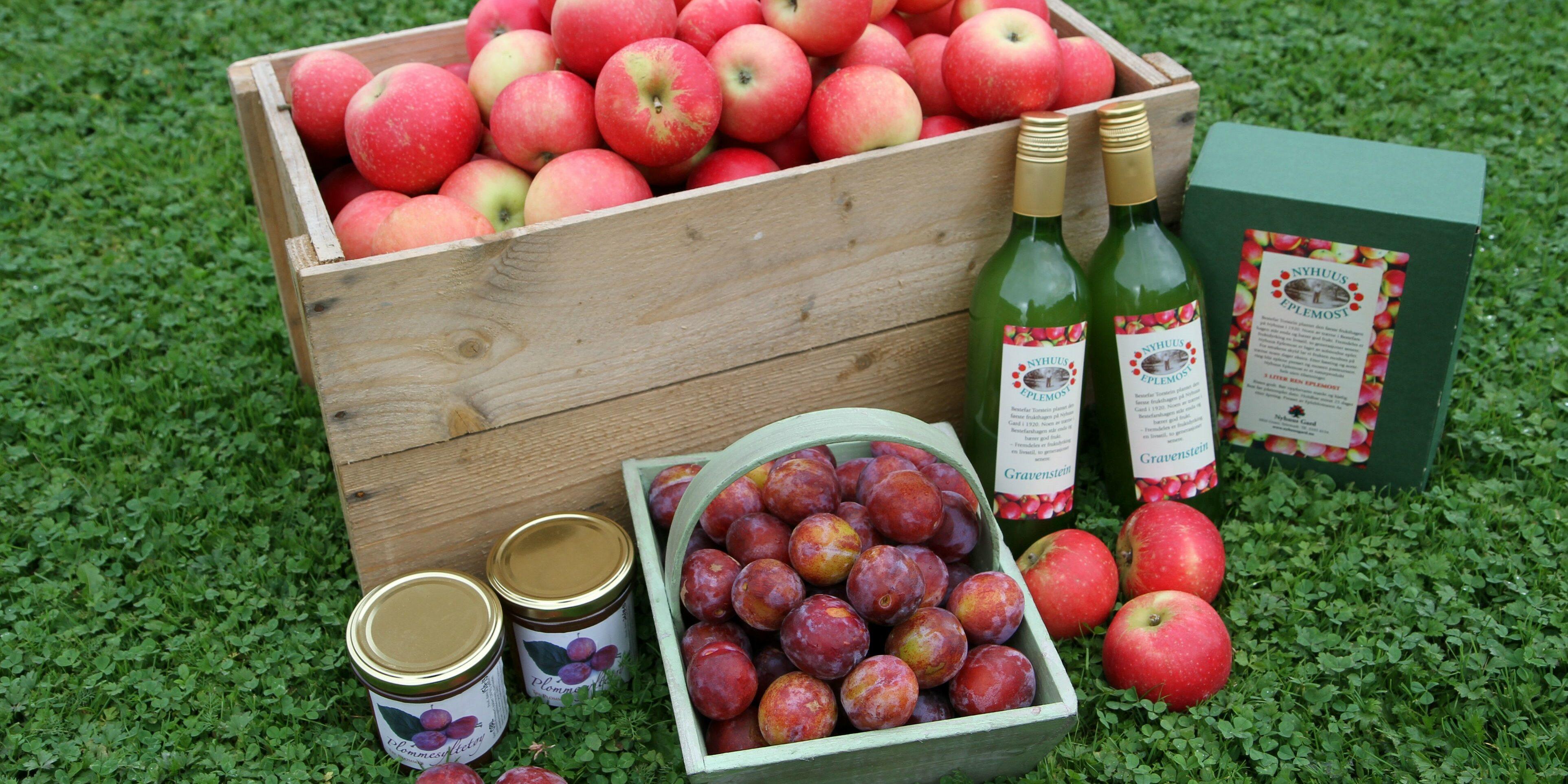 Nyhuus Gards eplemoster er premiert hvert år siden 2012 i konkurransen «Norges beste eplemost». Årets vinner er Augun