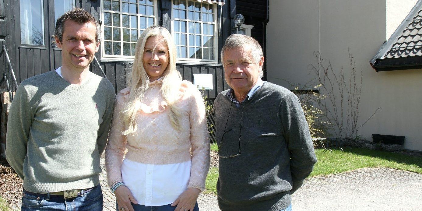Lars Arne, Katrine og Johan Straand