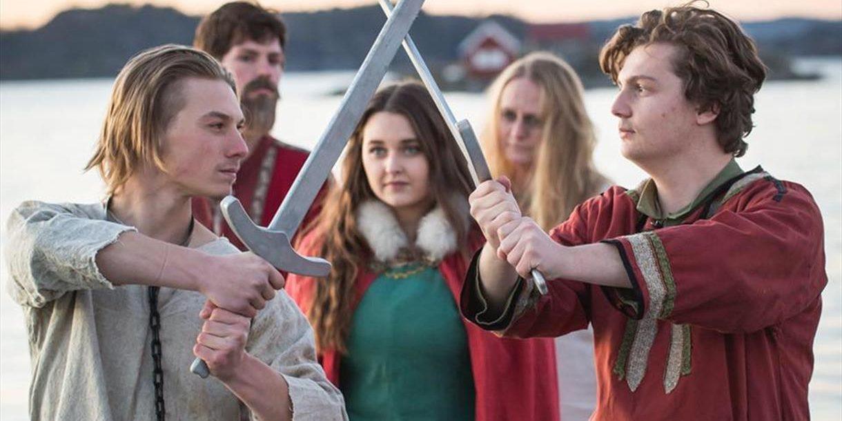 Vikingspelet under Vikingsveka på Telemarkskanalen