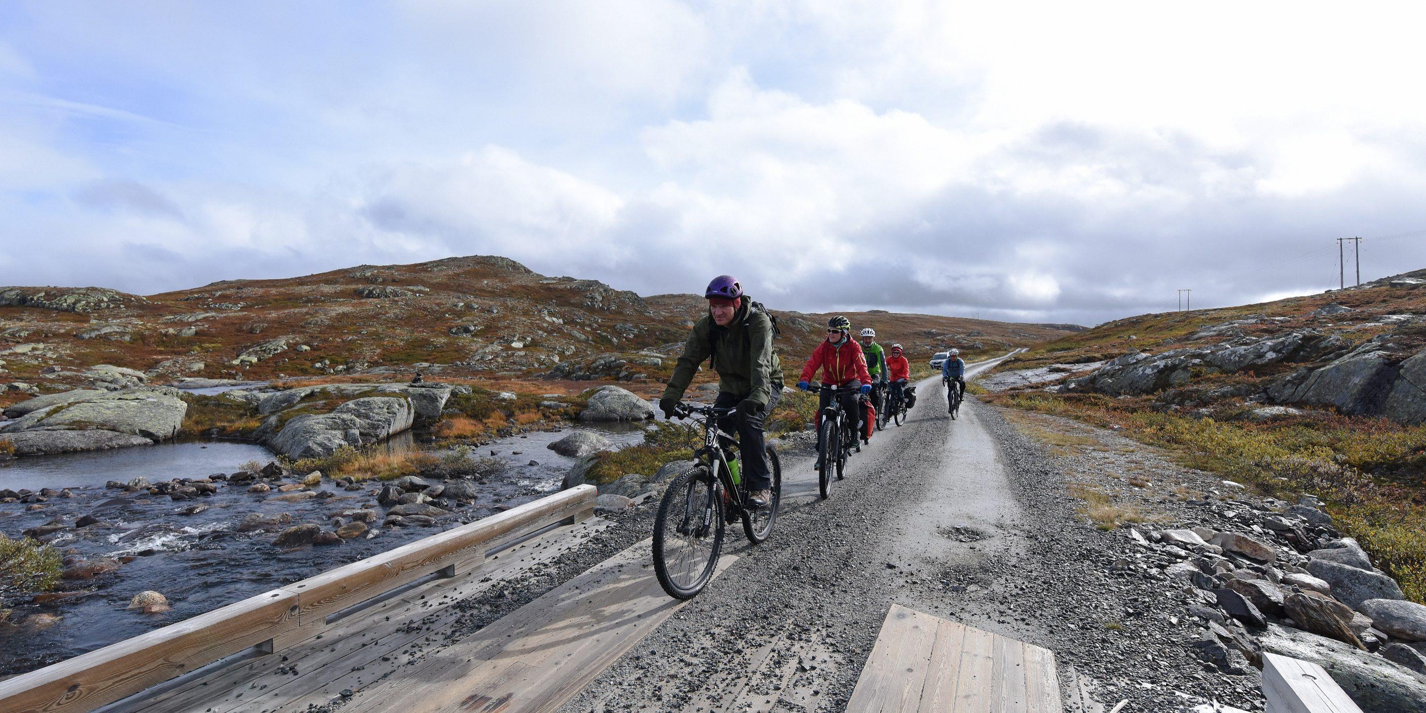 Sykling på  Hardangervidda Foto:Bjørn Harry Schønhaug